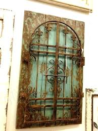 wood  on iron gate wall art with wood and iron wall decor metal gate wall decor metal gate wall art