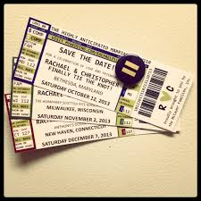 we love this diy version of concert ticket save the dates we love this diy version of concert ticket save the dates