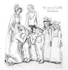 jane drawing scene from pride and prejudice by jane austen by hugh thomson
