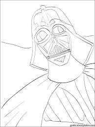 Kleurplaat Star Wars Darth Vader Gratis Kleurplaten