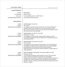 Web Developer Resume Template Java Sample Example Junior Free Cv