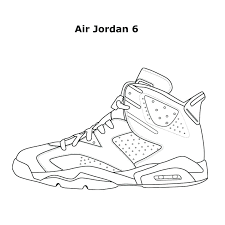 Jordan Coloring Sheets 6 Coloring Pages Within Sneakers Pictures S