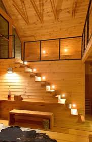 cabin lighting ideas. exellent lighting view in gallery lights along every step of a cabinloft intended cabin lighting ideas