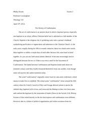 theology study resources 9 pages theology 154 research essay confirmation