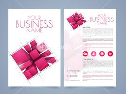stylish page stylish two page business brochure template or flyer presentation