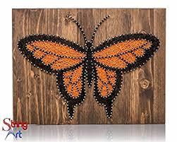 String Art Kit - Monarch Butterfly Decor, Butterfly String Art, Adult Craft  Set,