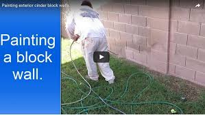 for painting block wall