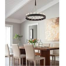 candeliara iron ring and 12 edison bulbs chandelier 11549