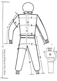 Made To Measure Race Suits Size Guide