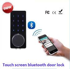 smart front door locksRemote Control Touch Screen Bluetooth Smart lock hotel door locks