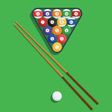 pool table clip art. Plain Pool Billiard Balls And Cue On Green Background Vector Art Illustration To Pool Table Clip Art