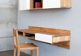 Floating shelf desk Storage 21 Spacesaving Wallmounted Desks To Buy Or Diy Brit Co 21 Spacesaving Wallmounted Desks To Buy Or Diy Brit Co