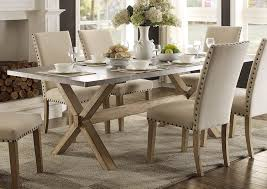 furniture like west elm. Amazon.com - Modern Zinc Top Dining Room Furniture In Weathered Oak (Dining Table) Table \u0026 Chair Sets Like West Elm