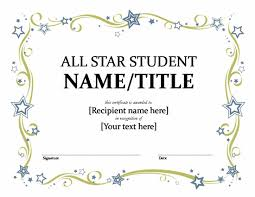 Student Award Certificate Template