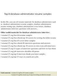 Mysql Database Administrator Resume Database Help Resume Mysql