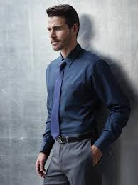Black Dress Shirt With Blue Tie