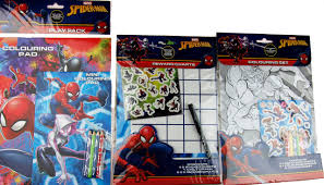 Spiderman Reward Chart Marvel Spiderman 3 Piece Colouring Set And Reward Good Behavior Chart