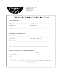 Community Service Hours Template Letter For Volunteer Hours
