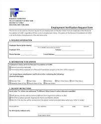 Request Employment Verification Letter Proof Of Employment Letter Request For Previous Verification