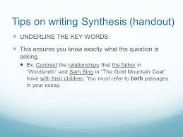 what is a synthesis essay ppt video online 6 tips