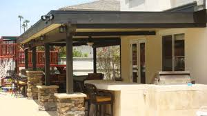 wood patio covers. Contemporary Wood Solid Wood Patio Cover With Stone Wraps In Covers