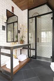 gray tile bathroom dark white