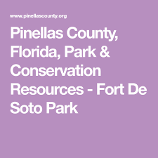 Fort Desoto Tide Chart Pinellas County Florida Park Conservation Resources