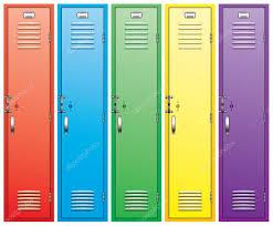 Armadietti per dpi : Armadi scuola colorato u2014 vettoriali stock © dmstudio #6459799
