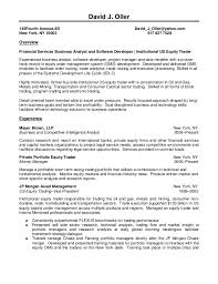 writing - Equity Trader Resume