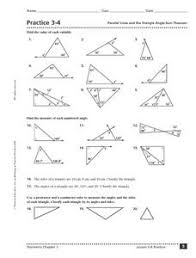 practice 3 4 parallel lines and the triangle angle sum theorem worksheet polygon angle sum worksheet termolak on chapter 12 stoichiometry worksheet answers