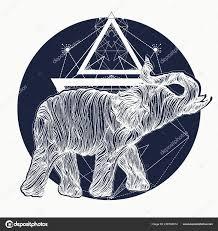 татуировка слона дизайн футболки символ медитации туризма медитации