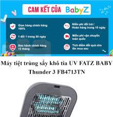 Máy tiệt trùng sấy khô tia Uv Fatz Baby Thunder 3 FB4713TN, tiệt trùng UV  là phương pháp hiện đại, được áp dụng nhiều trong y khoa, có thể tiêu diệt  tất