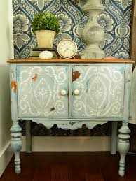 Shabby chic nightstand French Provincial Shabby Chic Rustic Painted Nightstand Hometalk Give Plain Nightstands Rustic Charm With Milk Paint Hgtv