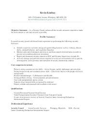 Security Clearance Resumes Security Resume Example Blaisewashere Com