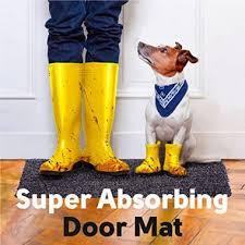 hello feet indoor super absorbent dirt trapper doormat