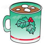 hot chocolate mug clipart. green christmas mug hot chocolate clipart
