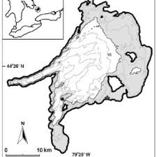 Lake Simcoe Depth Chart Map Of Lake Simcoe With 5 M Depth Contour Lines Shown