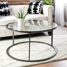 glass circular coffee table clay alder home round glass top metal coffee table glass round coffee
