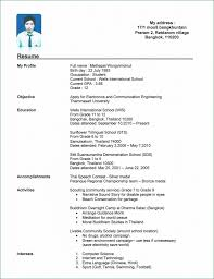 Resume Examples For Collegetudents With No Work Experienceample