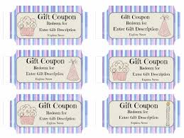 Gift Certificate Template Printable Free Printable Birthday Coupons Templates Gift Certificates