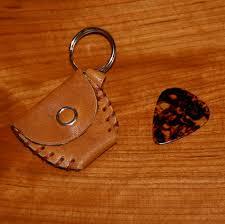 guitar pick holder tan