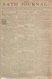 bath archives co uk. cover page of bath journal published on january 1, 1749 archives co uk