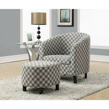 accent arm chair with ottoman. awesome ottoman chair design idea grey morroccan pattern accent arm and white shag wool with