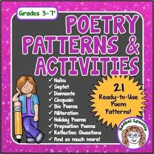 Poem Patterns Interesting Poetry Writing 48 Poem Patterns Plus Poetry Unit Tips And Ideas