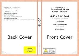 cover template with regard to within templates createe book 6x9