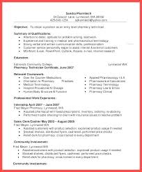 Pharmacy Tech Resume Samples Stunning Sample Resume Hospital Pharmacy Technician For No Experienced
