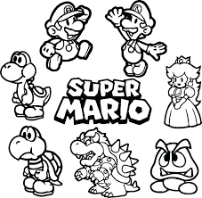 Mario Kart Coloring Pages Free Coloring Pages Mario Kart Wii