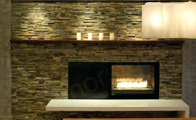stacked stone wall interior modern dining room with clean