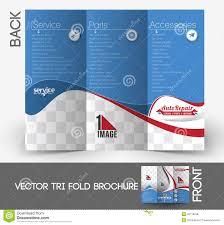Automobile Center Tri Fold Brochure Stock Vector