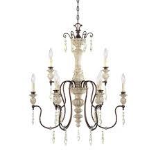 millennium lighting 9 light antique white bronze chandelier